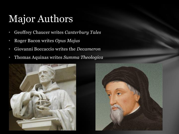 Major Authors