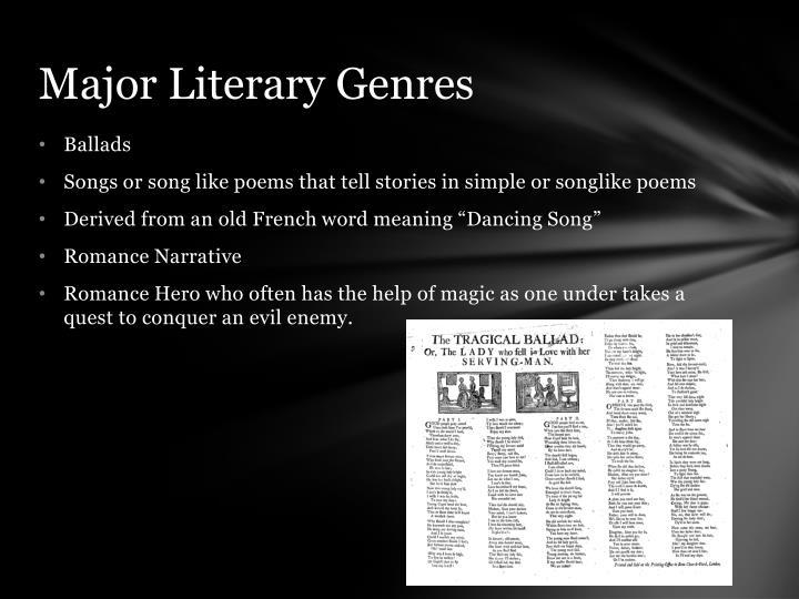 Major literary genres