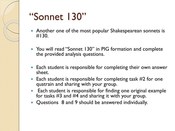 the meaning of sonnet 130
