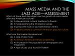 mass media and the jazz age assessment1