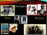 the 20 s is the jazz age