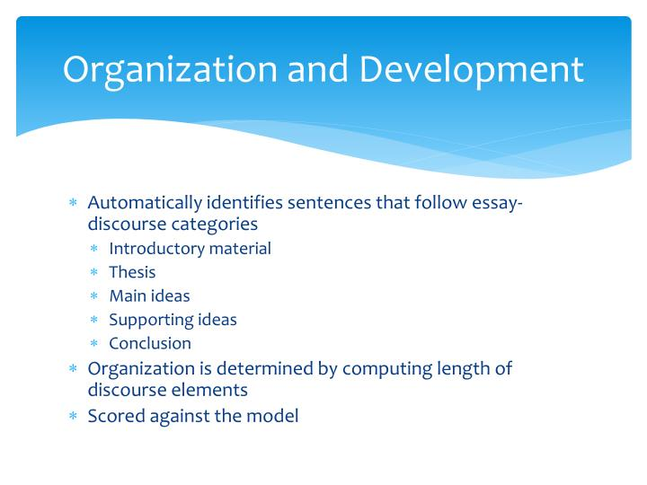 Organization and Development