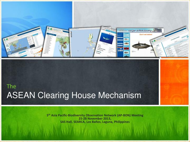 Ppt The Asean Clearing House Mechanism Powerpoint Presentation Free Download Id 1983466