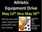 athletic equipment drive