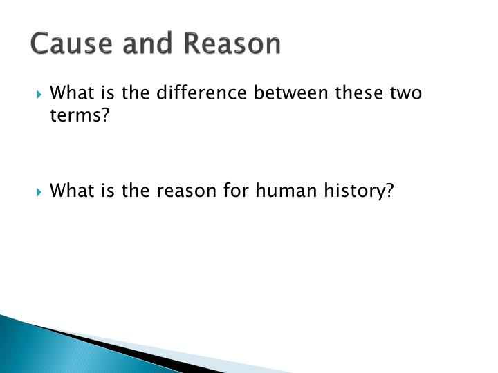 Cause and Reason