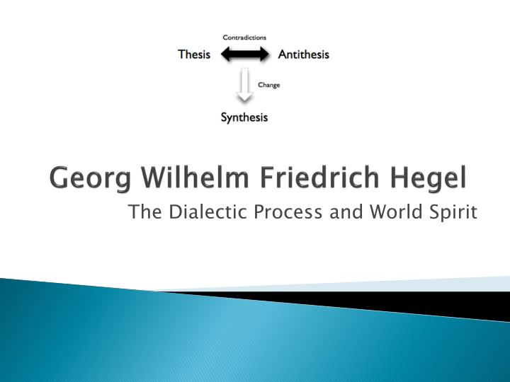 georg hegel thesis antithesis synthesis Idealism philosophy, georg hegel: discussion of quotes from the famous philosopher, georg hegel - on the metaphysics / philosophy of georg hegel's idealism, spirit, unity and synthesis of thesis and antithesis.