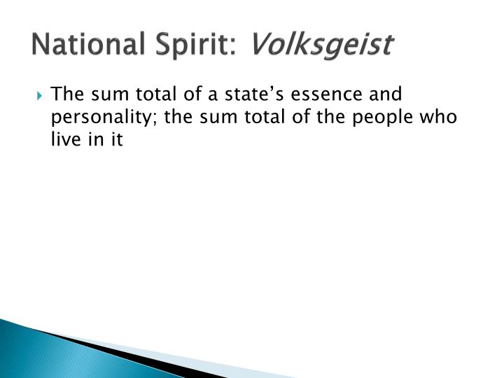 National Spirit: