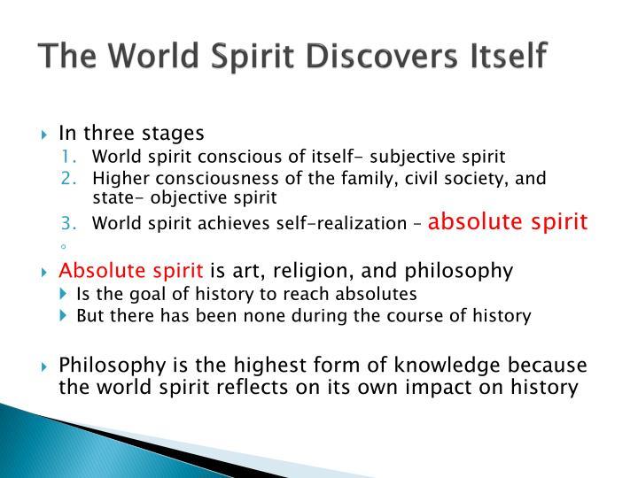 The World Spirit Discovers Itself