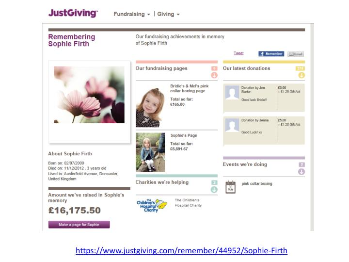 https://www.justgiving.com/remember/44952/Sophie-Firth