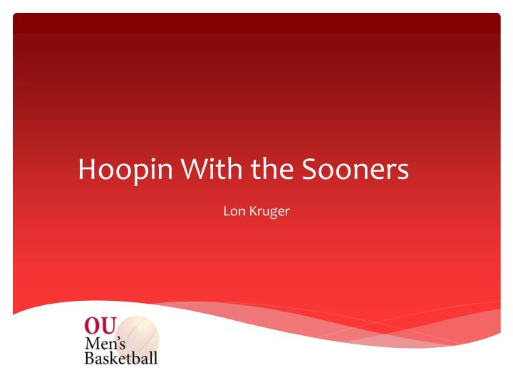 hoopin with the sooners n.