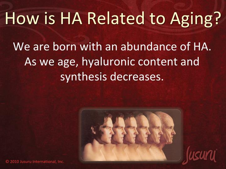 How is HA Related to Aging?