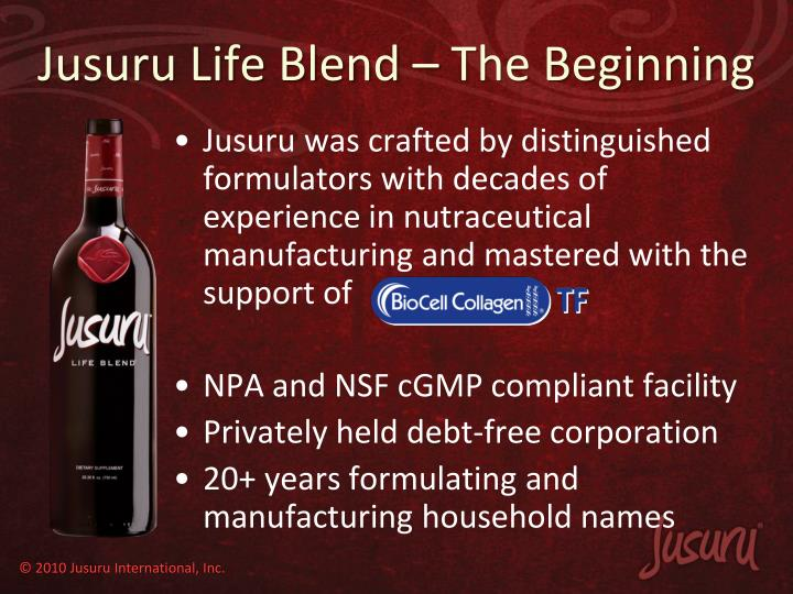 Jusuru life blend the beginning