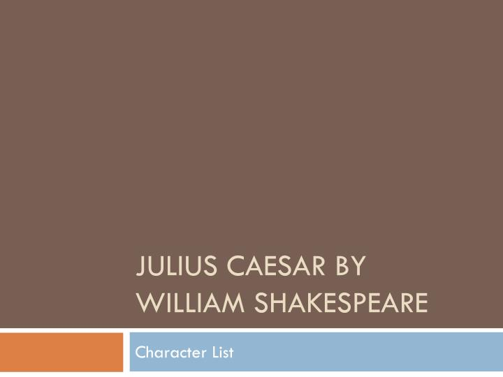 the history of rome told by william shakespeare in julius caesar