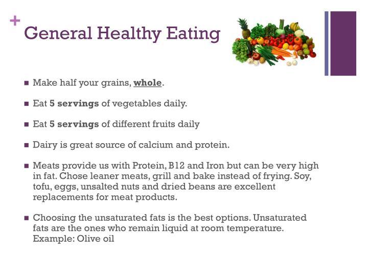 General healthy eating