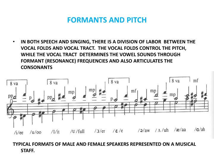 Formants and pitch
