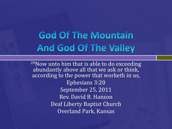 god of the mountain and god of the valley n.