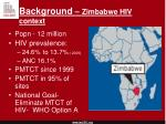 background zimbabwe hiv context