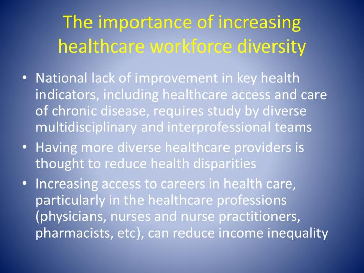 the importance of the health workforce to Wisconsin aims to advance a diverse, sufficient, and competent workforce that promotes and protects the health of the community.