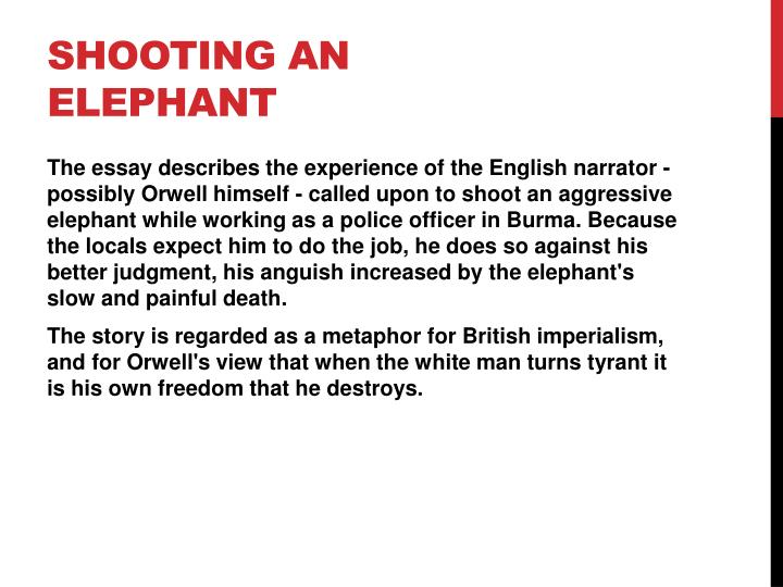 ppt shooting an elephant by george orwell powerpoint  shooting an elephant