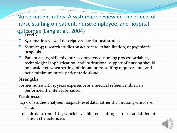 nurse to patient ratios an alternative approach Health care at the crossroads: strategies for addressing the evolving nursing crisis 5 the impending crisis in nurse staffing has the potential to impact the very health and.