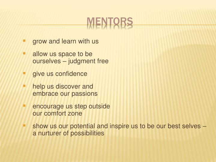 grow and learn with us