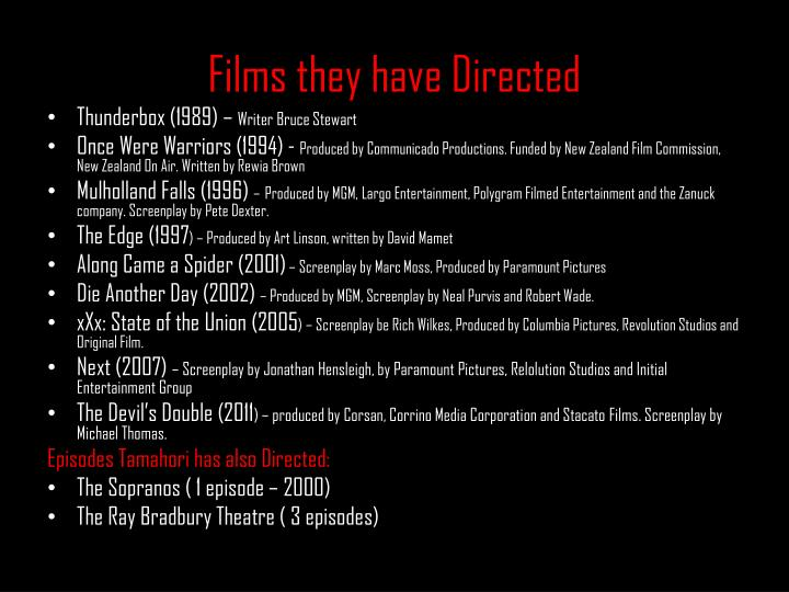 Films they have Directed