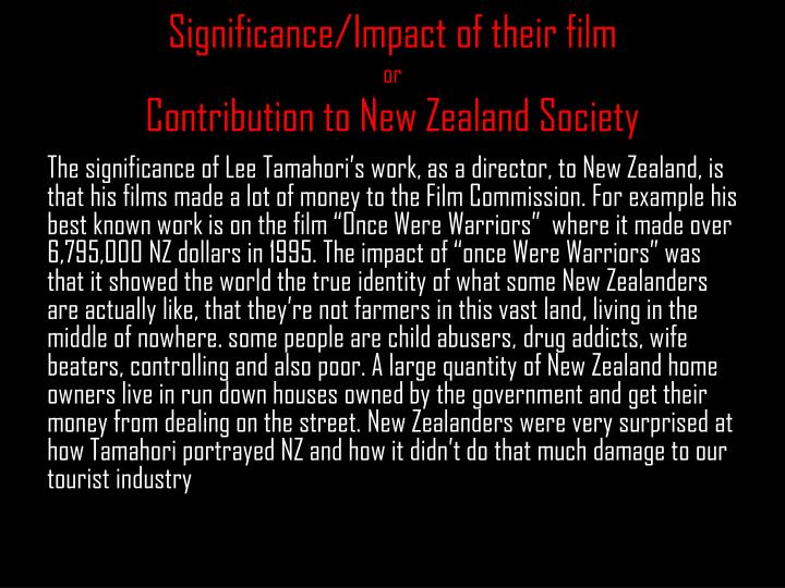 Significance/Impact of their film