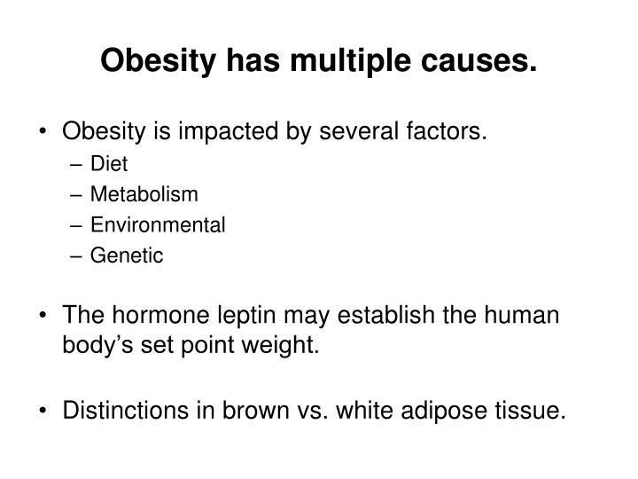 Obesity has multiple causes.