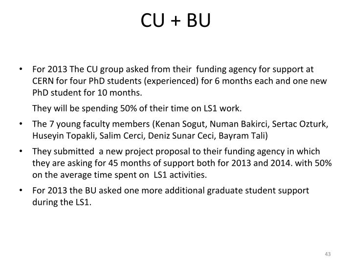 CU + BU