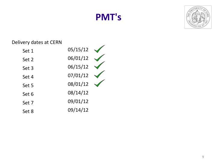 PMT's