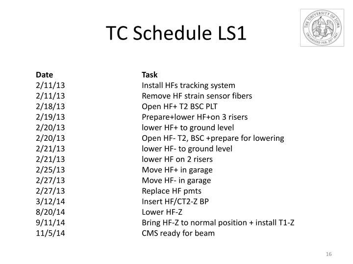 TC Schedule LS1