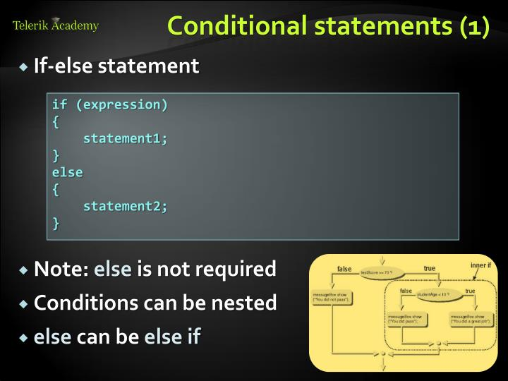 Conditional statements (1)