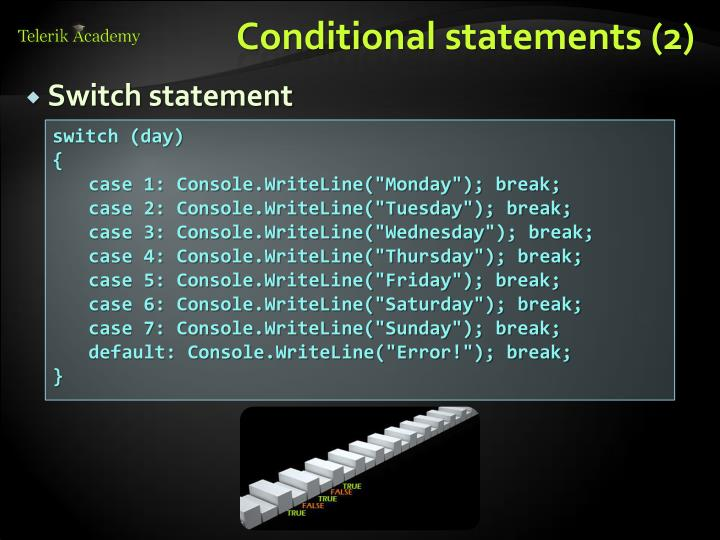 Conditional statements (2)