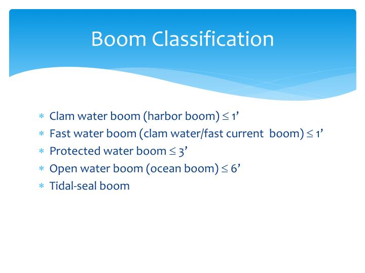 Boom Classification