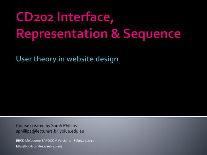 Cd202 interface representation sequence user theory in website design