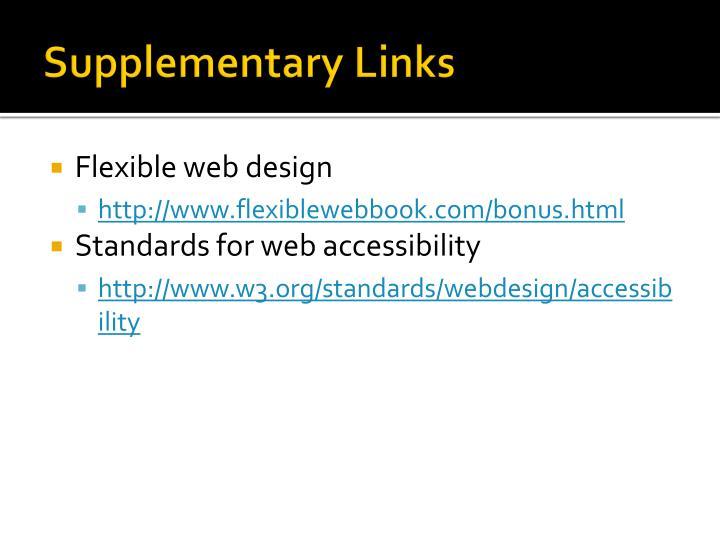 Supplementary Links