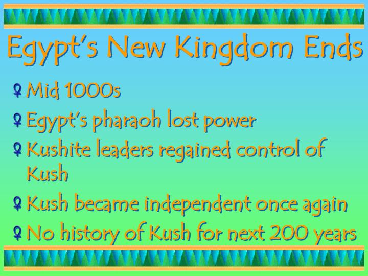Egypt's New Kingdom Ends