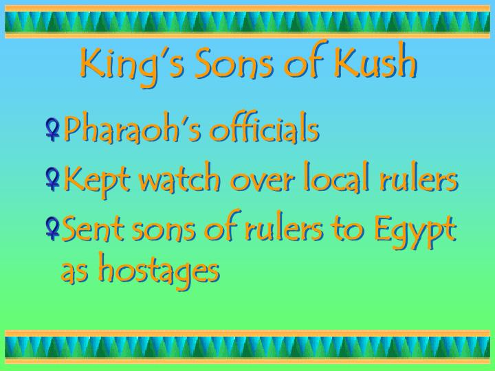 King's Sons of Kush