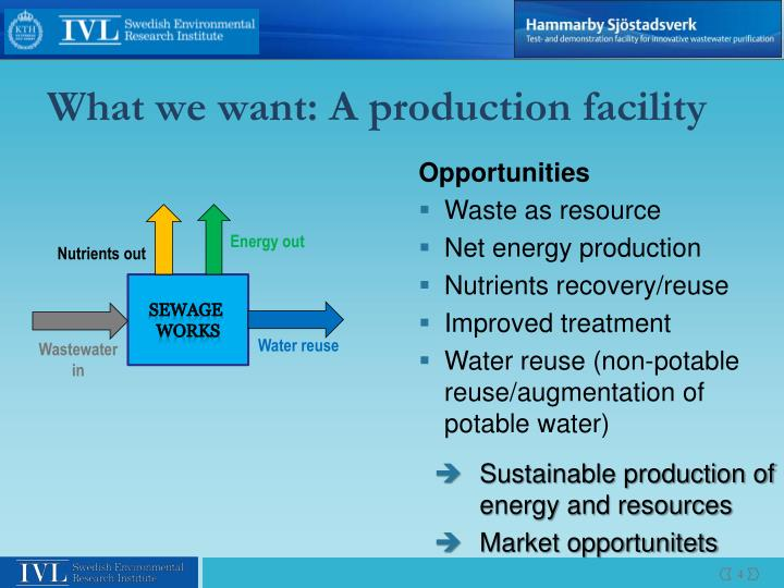 What we want: A production facility