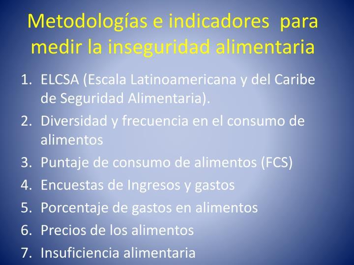 Metodologías e indicadores