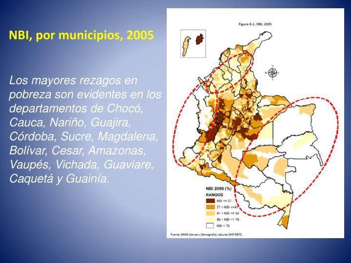 NBI, por municipios, 2005