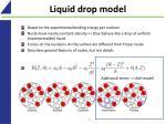 liquid drop model