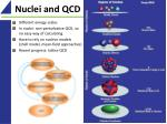 nuclei and qcd