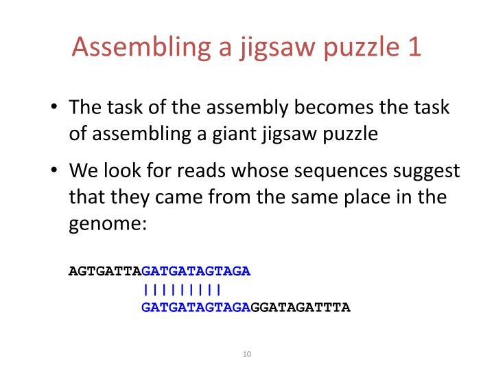 Assembling a jigsaw puzzle 1