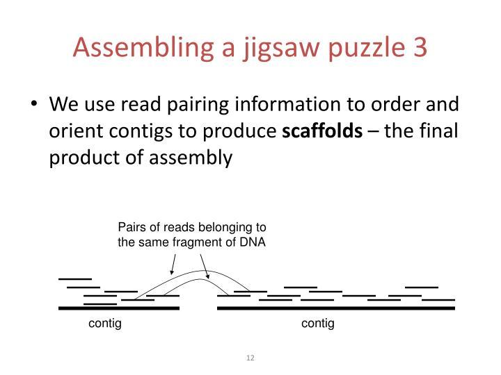 Assembling a jigsaw puzzle 3