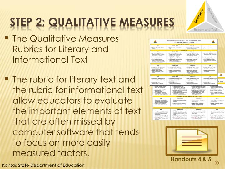 The Qualitative Measures Rubrics for Literary and Informational