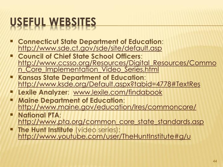 Connecticut State Department of Education