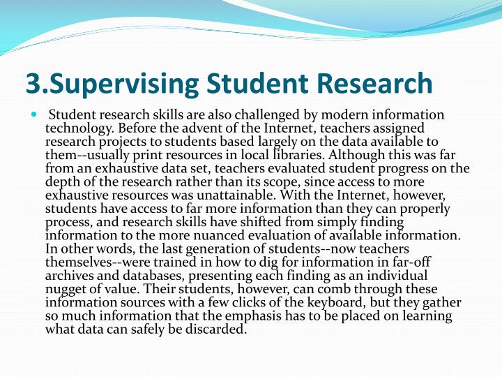 3.Supervising Student Research