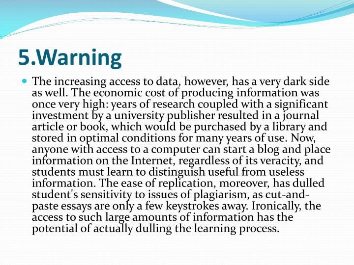 5.Warning