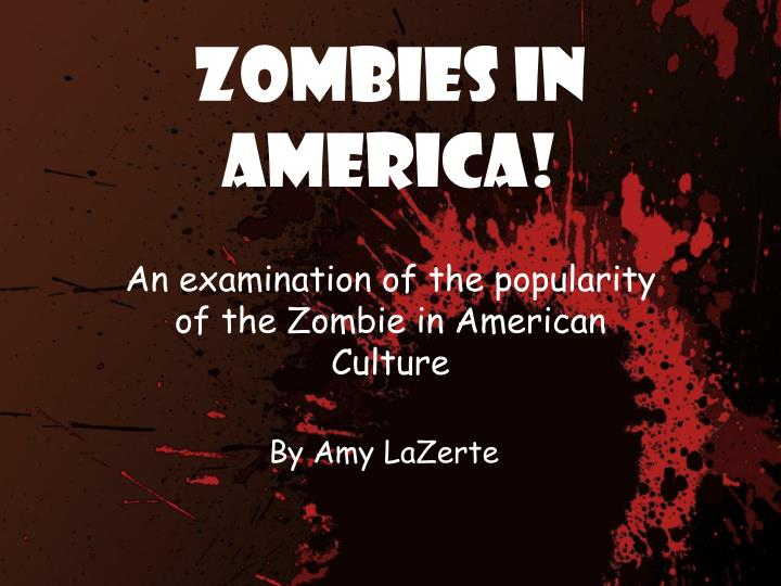 an examination of the american culture An examination of the american monomyth and the comic he was working on a ma in american currently an instructor of theatre arts and popular culture.